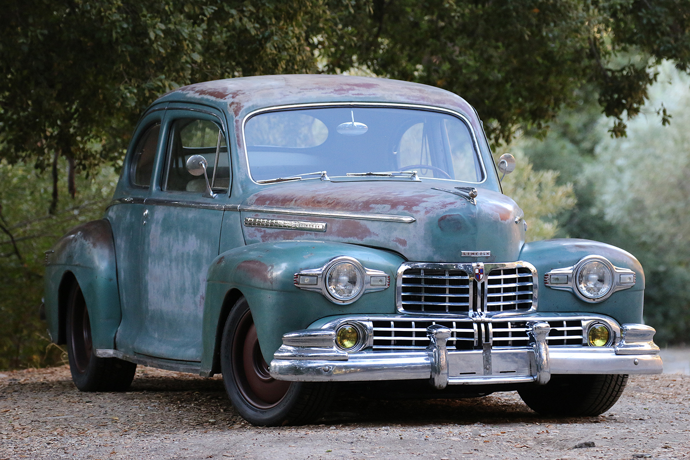 1947 Lincoln Club Coupe Derelict