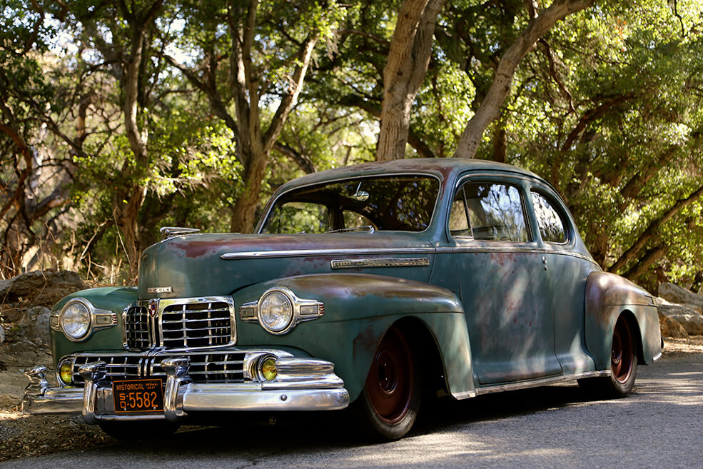 1946 Lincoln Club Coupe Derelict